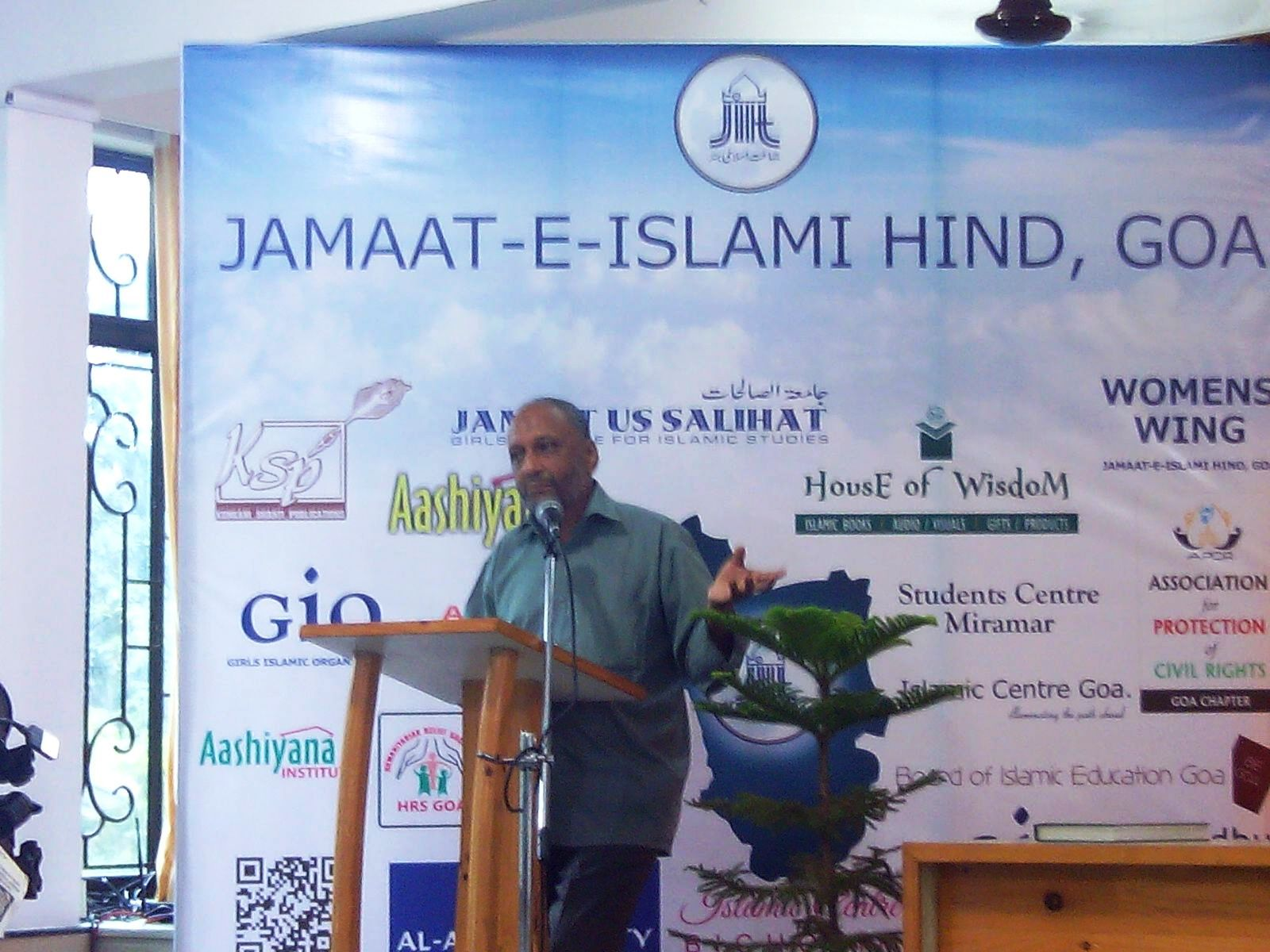 Jb. Abdul Wahid Khan [Ameer- e- Halqa - Goa] addressing the gathering