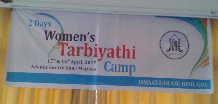 Two day tarbiyati camp for all Goa women's wing organised
