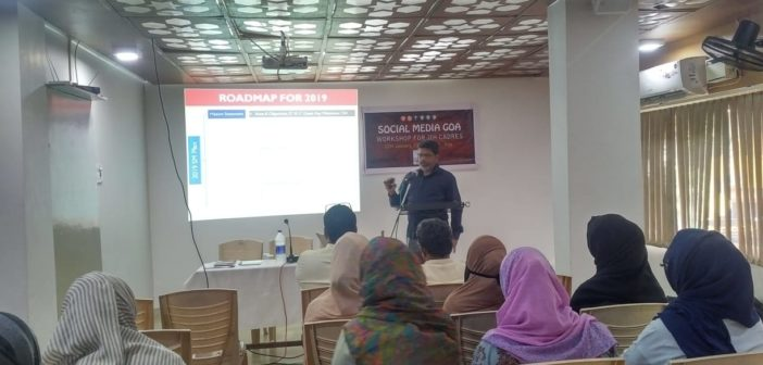SOCIAL MEDIA GOA – WORKSHOP FOR JIH CADRES
