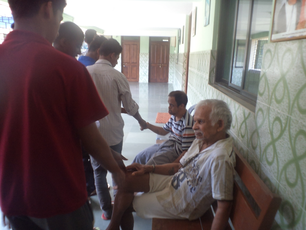 Visit to Old Age Home, Quepem